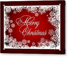 Merry Christmas Card Acrylic Print