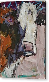 Modern Abstract Cow Painting Acrylic Print