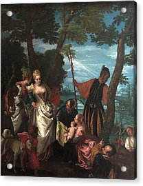 Moses Saved From The Waters Acrylic Print by Paolo Veronese