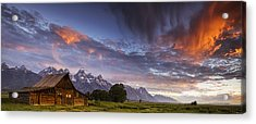 Mountain Barn In The Tetons Acrylic Print