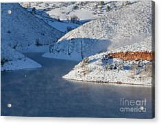 Mountain Lake In Winter Acrylic Print
