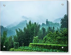 Mountains Scenery In The Mist Acrylic Print