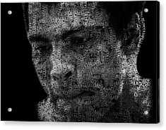 Muhammad Ali Or Cassius Clay Text Portrait - Typographic Face Poster Acrylic Print