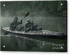 Navy Seals Navigate The Waters Acrylic Print by Tom Weber