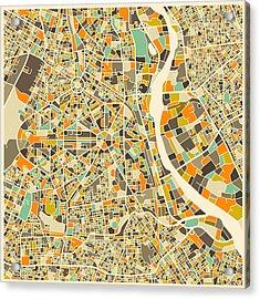 New Delhi Map Acrylic Print