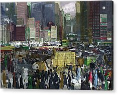 New York Acrylic Print by George Bellows