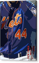 New York Mets Baseball Team And New Typography Acrylic Print by Pablo Franchi