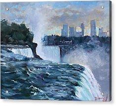 Niagara Falls Acrylic Print by Ylli Haruni