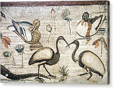 Nile Flora And Fauna, Roman Mosaic Acrylic Print by Sheila Terry