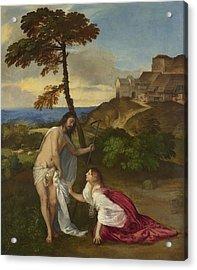 Noli Me Tangere Acrylic Print by Titian