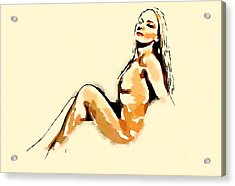 Nude Study By Frank Falcon Acrylic Print