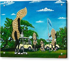 Nutz Bout Golf Acrylic Print by Charles Vaughn