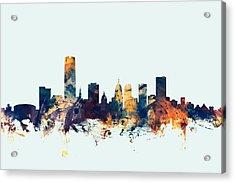 Oklahoma City Skyline Acrylic Print by Michael Tompsett