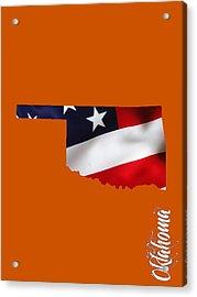 Oklahoma State Map Collection Acrylic Print