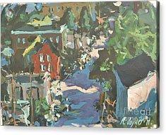 Acrylic Print featuring the painting Original Contemporary Urban Painting Featuring Richmond Virginia by Robert Joyner