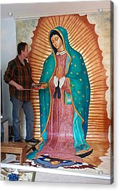 Our Lady Of Guadalupe Acrylic Print by Patrick RANKIN