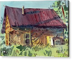 Outbuilding Acrylic Print by Donald Maier
