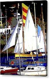 Oyster Boats Acrylic Print