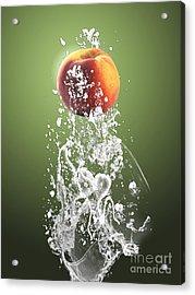 Peach Splash Acrylic Print by Marvin Blaine