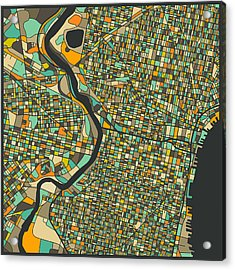 Philadelphia Map Acrylic Print
