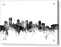 Phoenix Arizona Skyline Acrylic Print by Michael Tompsett