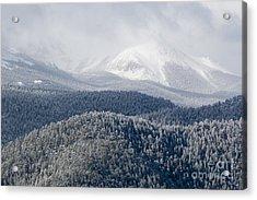 Pikes Peak In Snow Acrylic Print