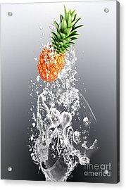 Pineapple Splash Acrylic Print