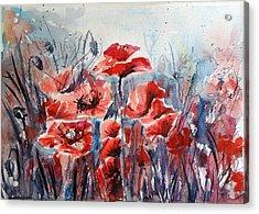 Poppies Acrylic Print by Kovacs Anna Brigitta