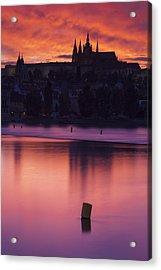 Prague Castle Acrylic Print by Andre Goncalves