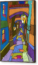 Prague Old Street Acrylic Print