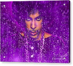 Prince Purple Rain Tribute Acrylic Print