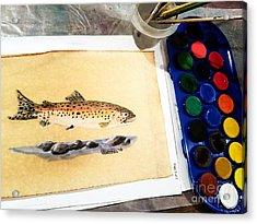 Rainbow Trout Acrylic Print by Scott D Van Osdol