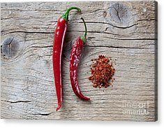 Red Chili Pepper Acrylic Print by Nailia Schwarz