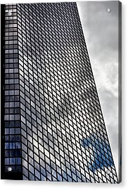 Reflective Glass And Metal Building Acrylic Print by Robert Ullmann