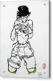 Remembering Schiele Acrylic Print by Roberto Prusso