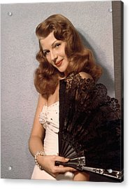 Rita Hayworth, Ca. 1940s Acrylic Print by Everett