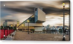 Rock And Roll Hall Of Fame Acrylic Print by James Dean