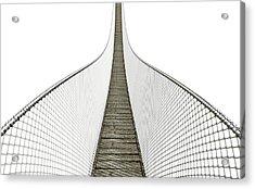 Rope Bridge On White Acrylic Print