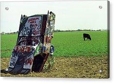 Route 66 - Cadillac Ranch Acrylic Print by Frank Romeo