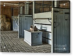 Rustic Stable Acrylic Print by John Greim