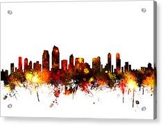 San Diego California Skyline Acrylic Print