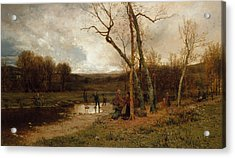 Saturday Afternoon Acrylic Print by Jervis McEntee