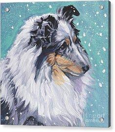 Acrylic Print featuring the painting Shetland Sheepdog by Lee Ann Shepard