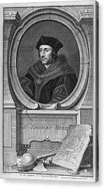 Sir Thomas More, English Statesman Acrylic Print by Middle Temple Library