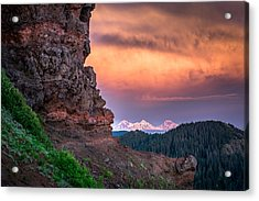 3 Sisters From Iron Mountain Acrylic Print by Jeffrey Green