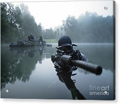 Special Operations Forces Combat Diver Acrylic Print by Tom Weber