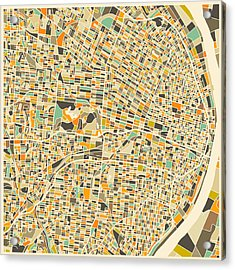 St Louis Map Acrylic Print