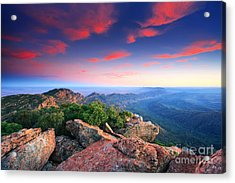 St Mary Peak Sunrise Acrylic Print