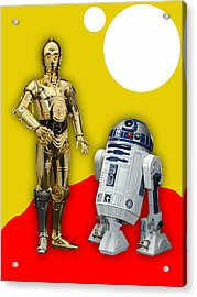 Star Wars C-3po And R2-d2 Acrylic Print by Marvin Blaine