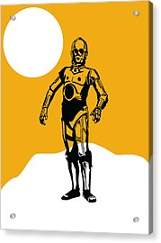 Star Wars C-3po Collection Acrylic Print by Marvin Blaine